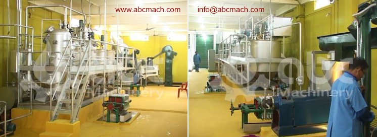 cooking oil extraction factory